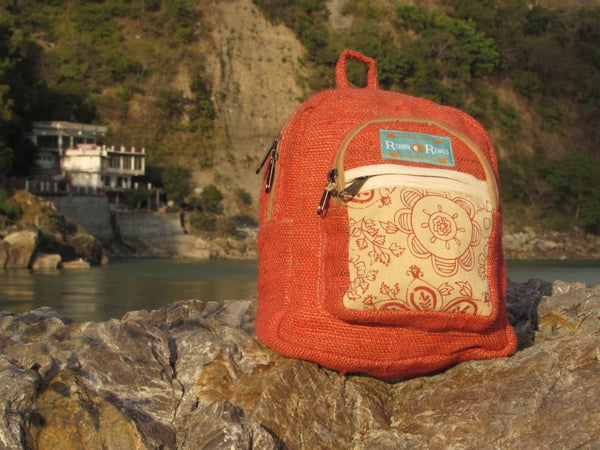 Image of Pure Hemp Mini Backpack - Emilia | 100% Vegan | Eco Friendly | Handmade | Himalayan Hemp