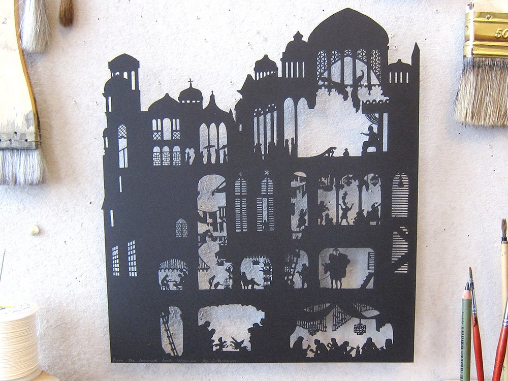 Image of Nylmah lasercut: pages three and four