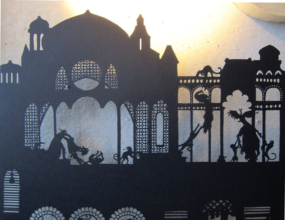Image of Nylmah lasercut: pages five and six
