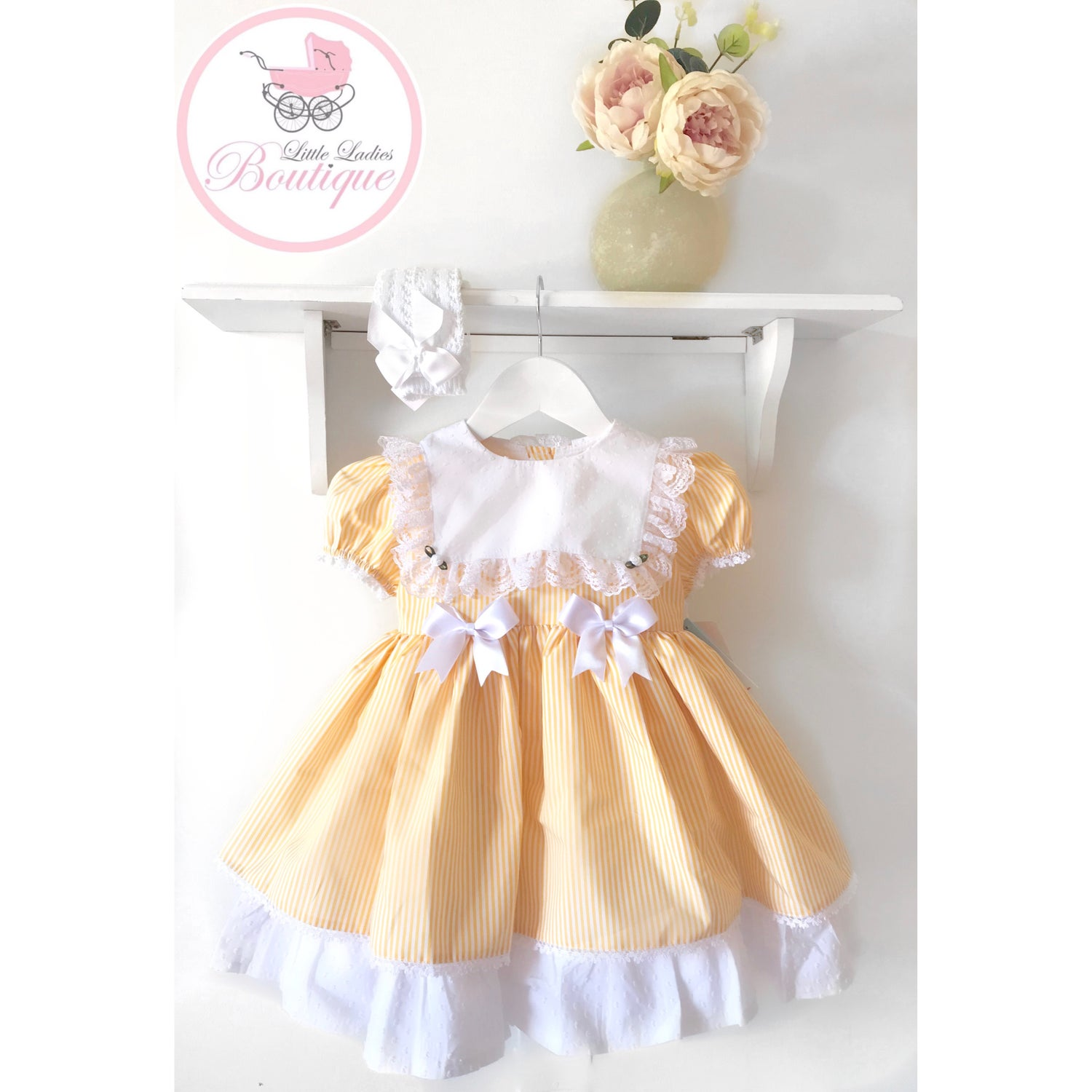 Image of Candy stripe Vintage Bib Puffball