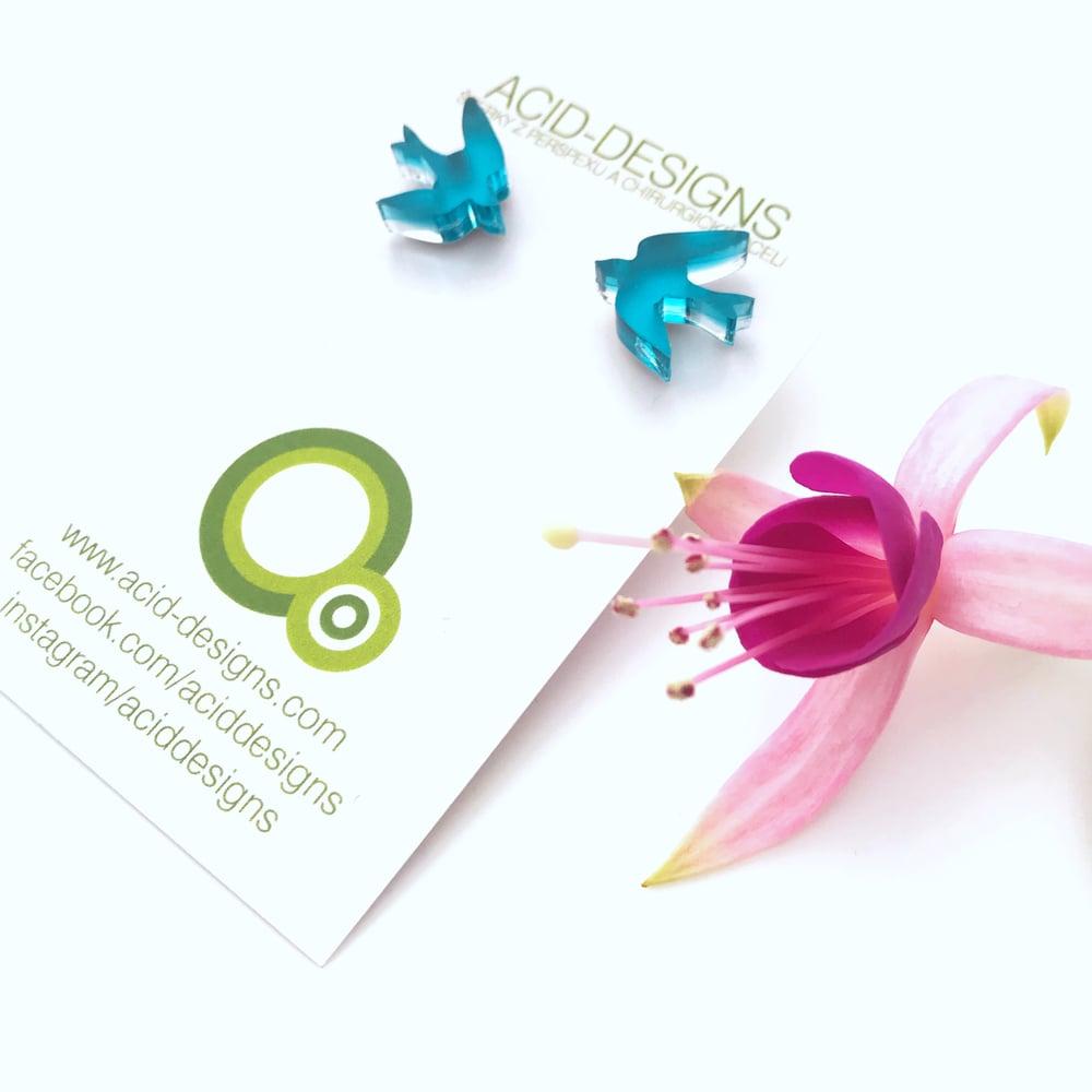 Image of Náušnice / Earrings Barevní ptáčci