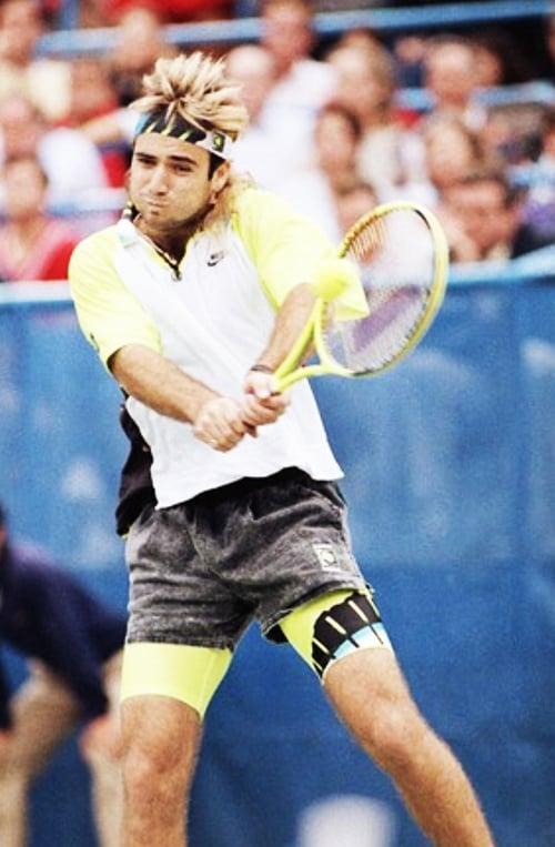 Image of Nike Challenge Court Vintage Agassi Tennis Shorts Size M