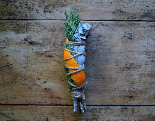 Image of Manifest Smoke Wand | smudge stick | meditation | Full Moon ritual | manifestation tool