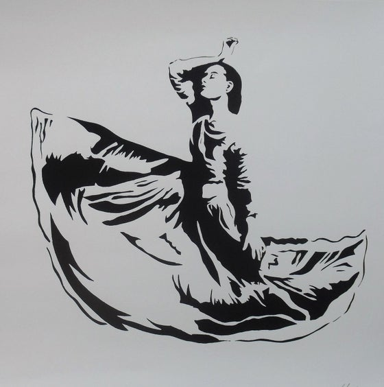 "Image of BLEK LE RAT - ""DANCER"" - ARTIST PROOF - 2008 - 53CM X 56CM"