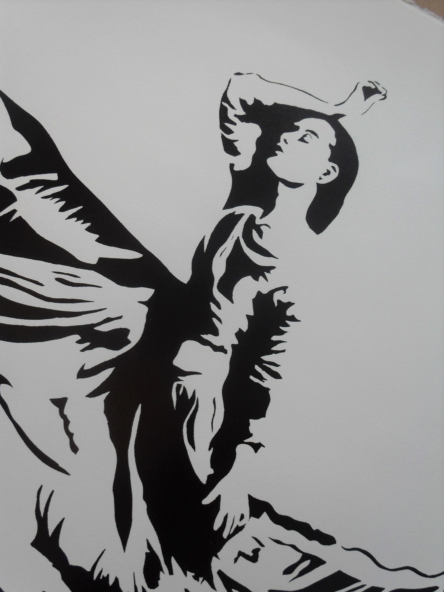 "Image of BLEK LE RAT - ""DANCER"" - ARTIST PROOF - 2008 - 53CM X 56CM"