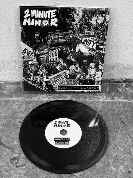 "Image of SOLD OUT Conflict Machine, 2Minute Minor single, 3"" Lathe Cut Record"