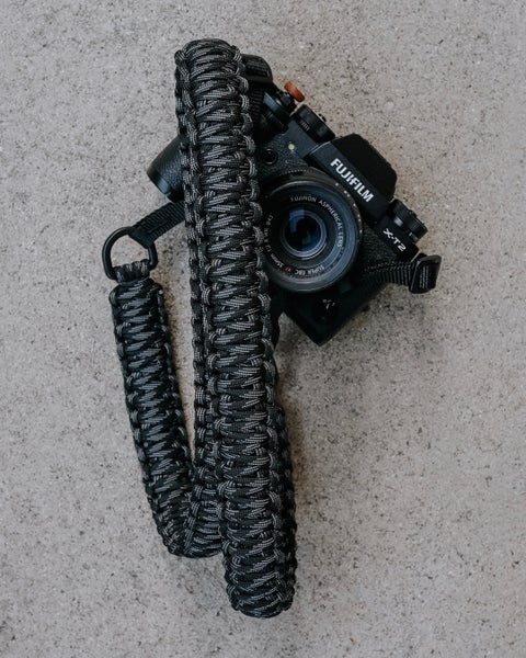 Image of Double paracord camera shoulder/neck strap with original nylon strap connectors