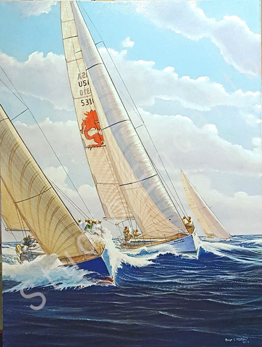 Image of Dragonfly Passing to Windward by Captain Roger C. Horton