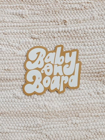 Image of baby on board car magnet