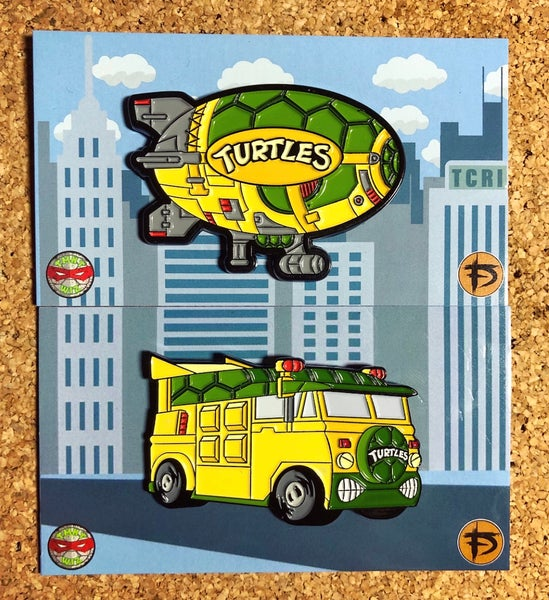 "Image of TMNT_Wiz Van & Blimp 2"" Enamel Pin Pack"