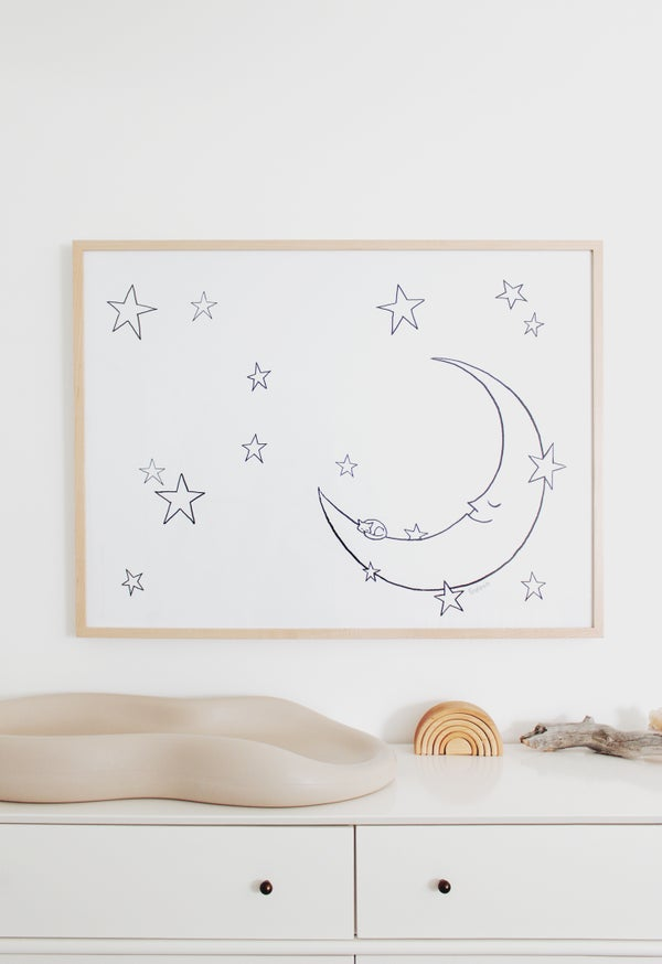 Image of printable happy moon poster