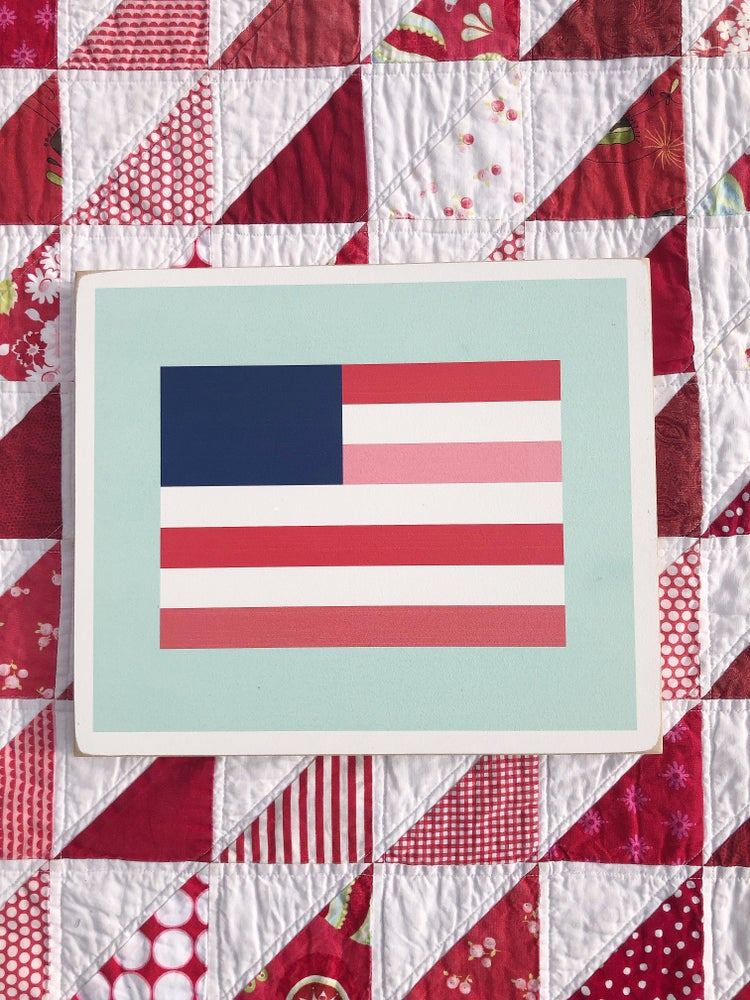 Image of Stars and Stripes - Bonnie & Camille Wood Barn Quilt