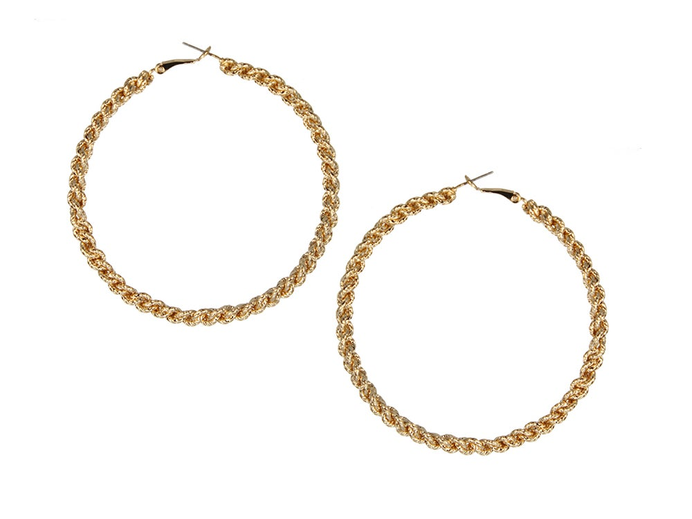 Image of Rope Chain Hoops