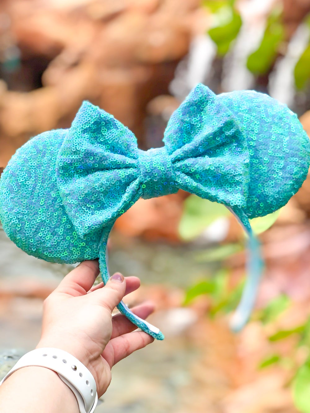 Image of Blue Pixie Sequin Ears