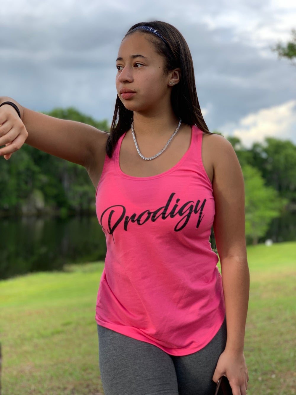 NEW PRODIGY SCRIPT PINK TANK WITH BLACK INK