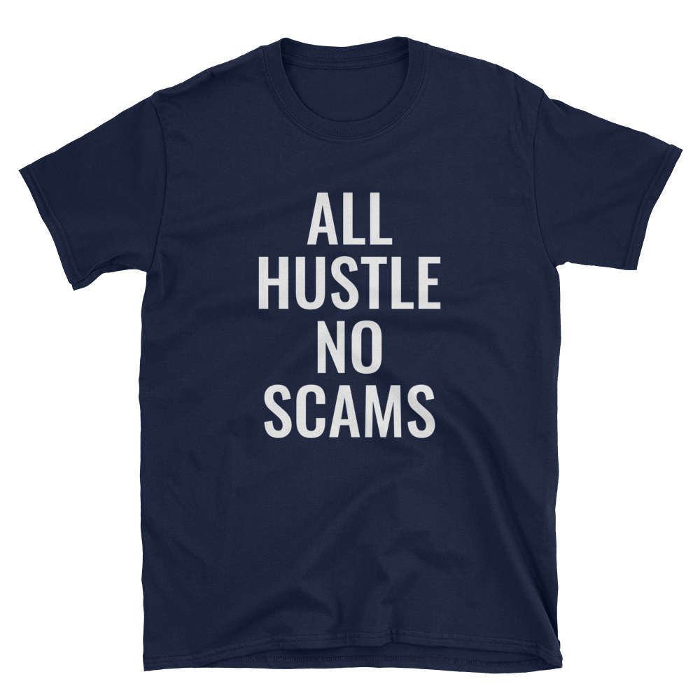 Image of All Hustle - Navy & White