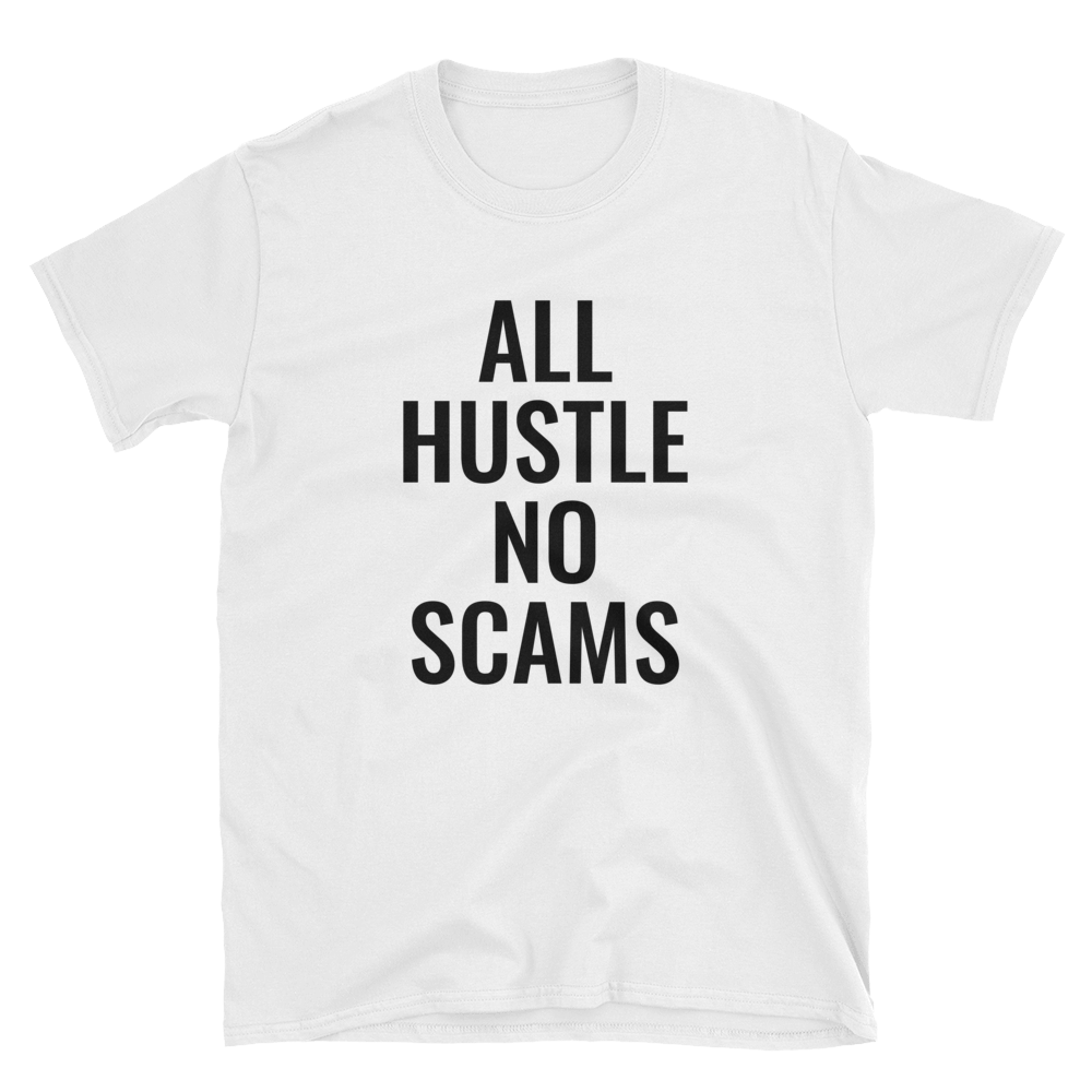 Image of All Hustle - White & Black