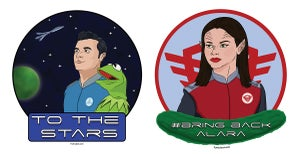 Image of The Orville - Stickers and Buttons