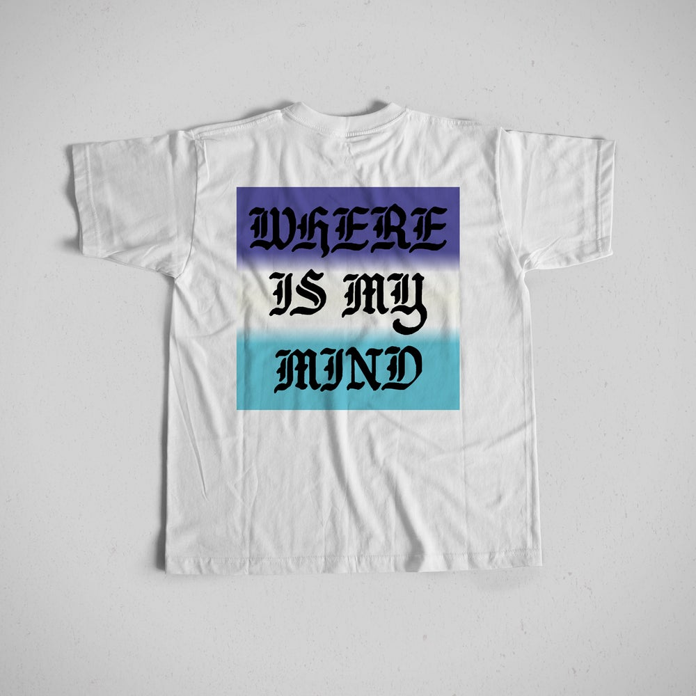 Image of WHERE IS MY MIND GRADIENT POCKET TEE - White
