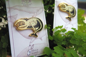 """Image of """"Skin and Bones"""" Whale Skeleton Pin -Collab with KWT Designs"""