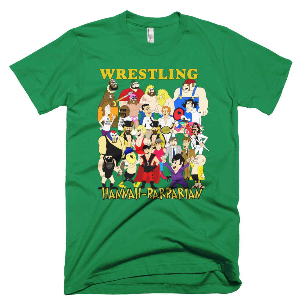 Image of Hannah-Barbarian Wrestling All-Stars (Red, Irish Whip Green, Navy)