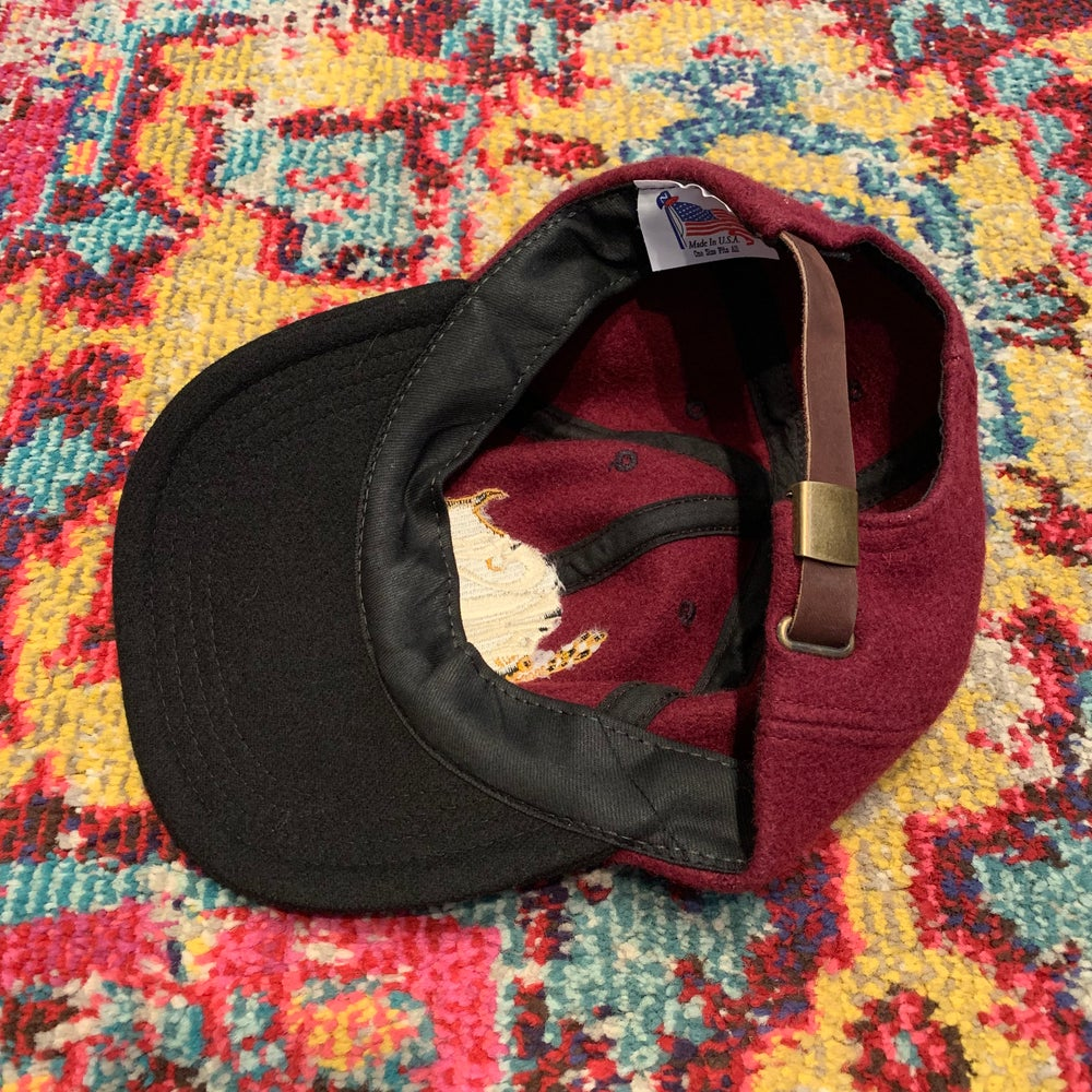 Image of Original Vintage Phish 90's Fleece Hat w/Leather Strap!
