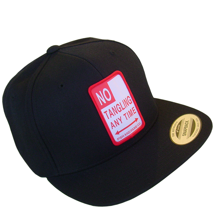 Image of No Tangling Any Time Snap Back (black)