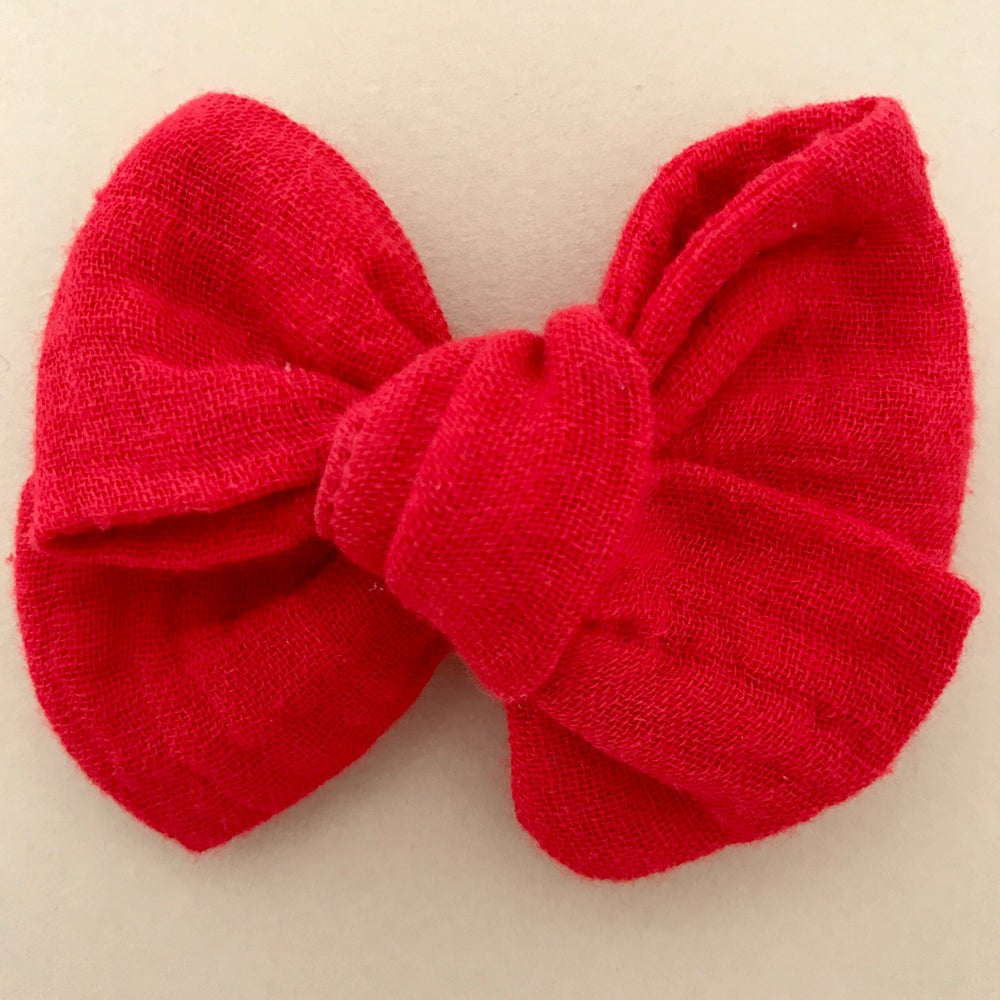 Image of Barrette & bloomer double gaze rouge