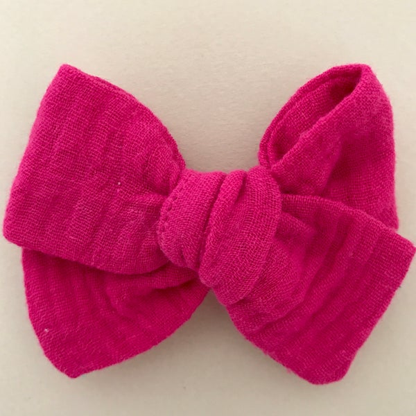 Image of Barrette & bloomer double gaze rose fuchsia