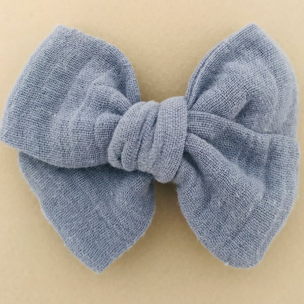 Image of Barrette & bloomer double gaze bleu gris