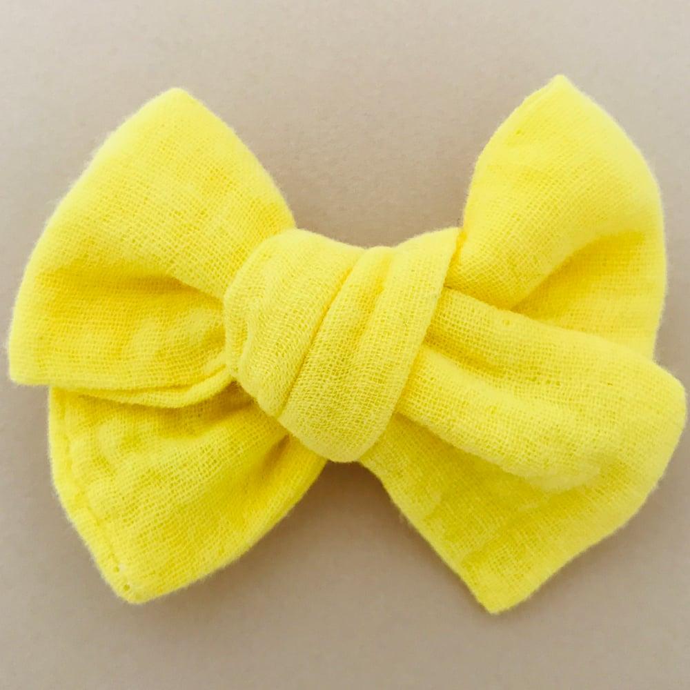 Image of Barrette & bloomer double gaze jaune