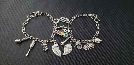 Image of Mother & Daughter Car Part Charm Bracelets
