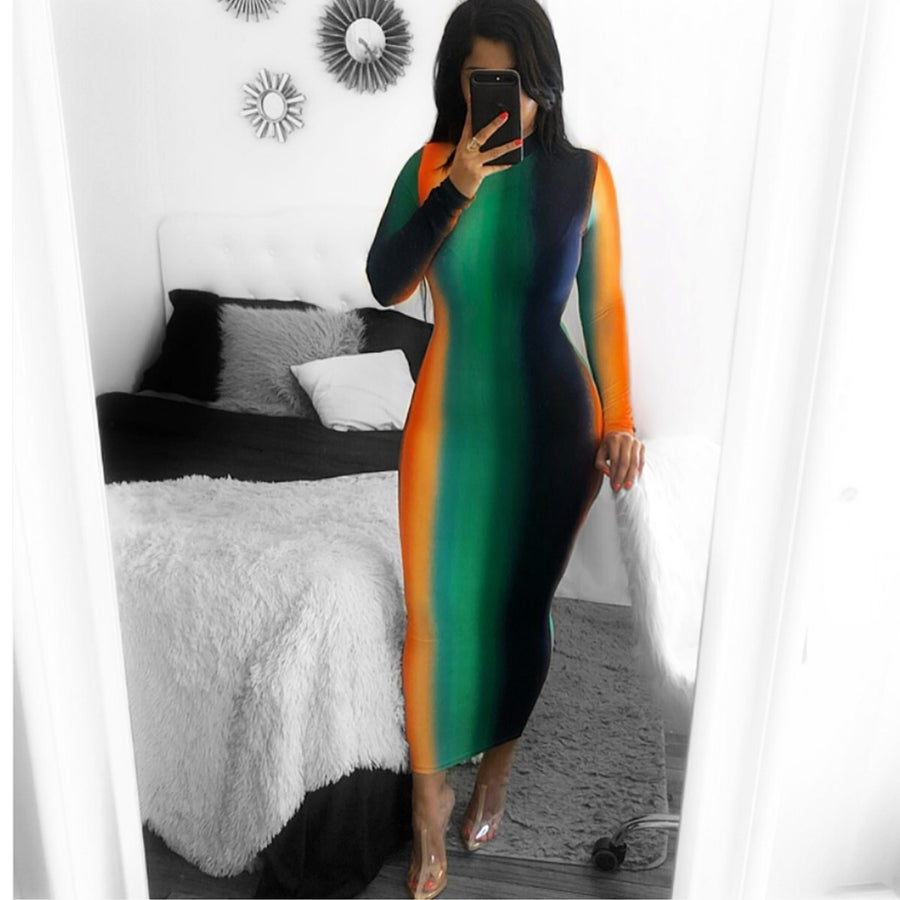 Image of Night dye multi color dress