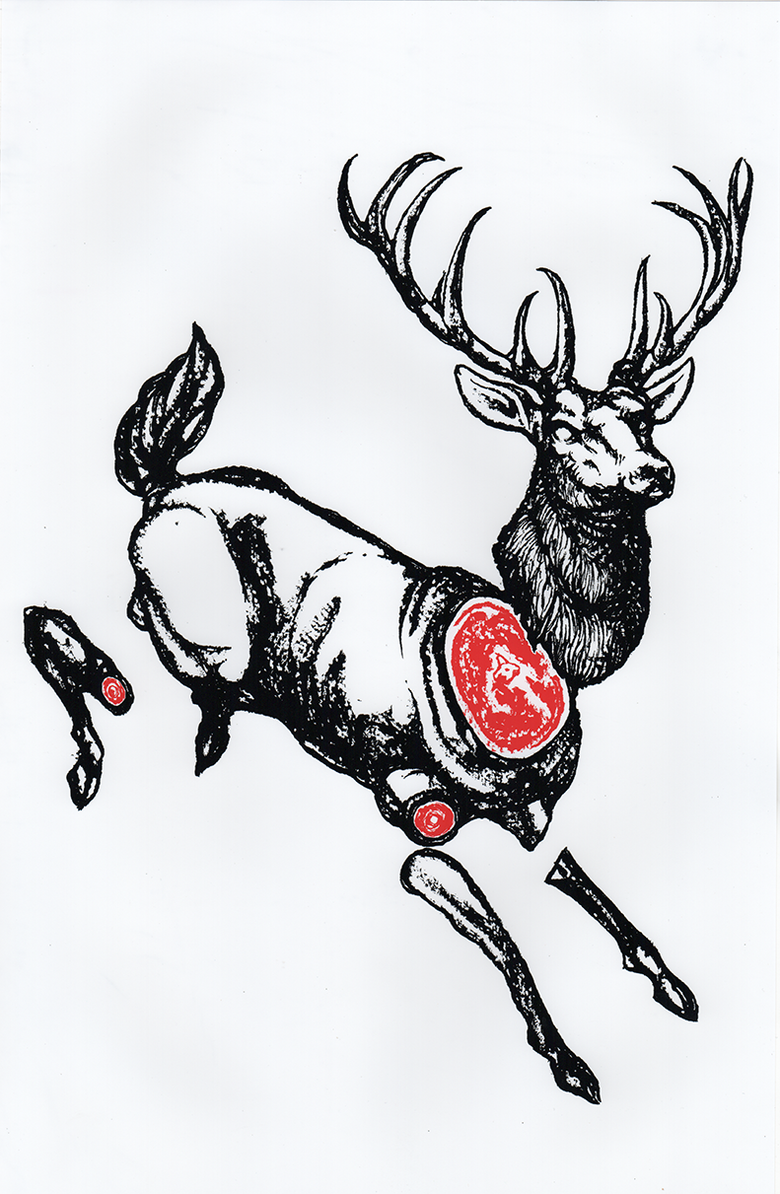 "Image of ""The Stag"" 8.5""x11"" Watercolor Print"