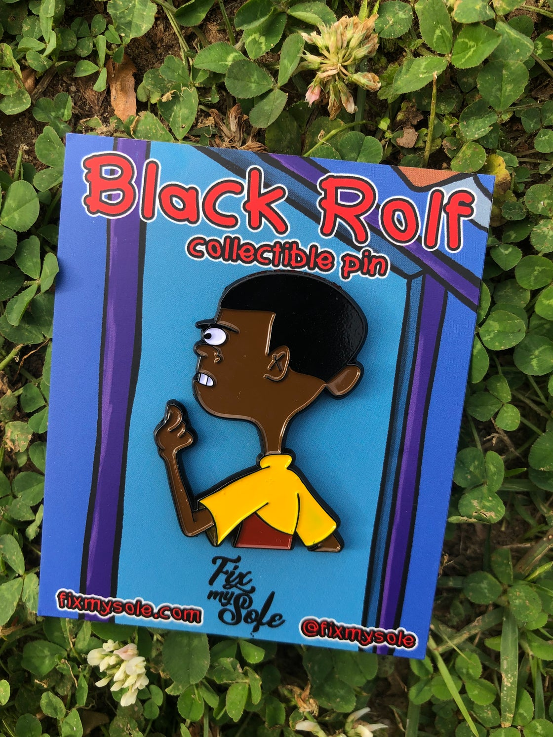 Image of Black Rolf pin
