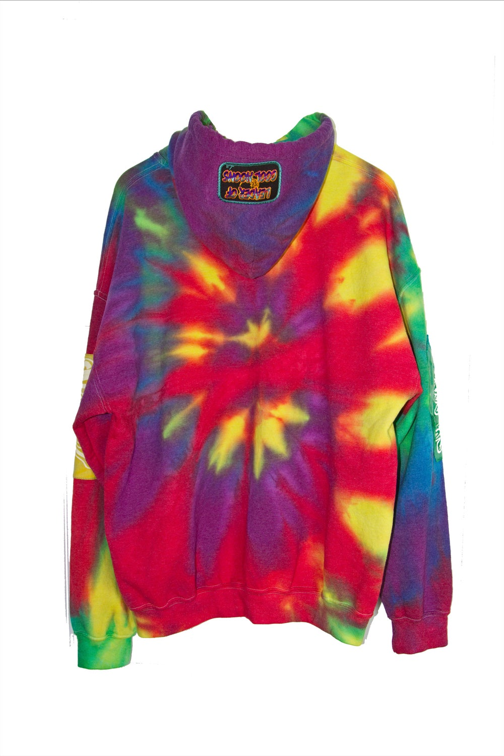"""LIGHT UP"" rainbow tie-dye hoodie"