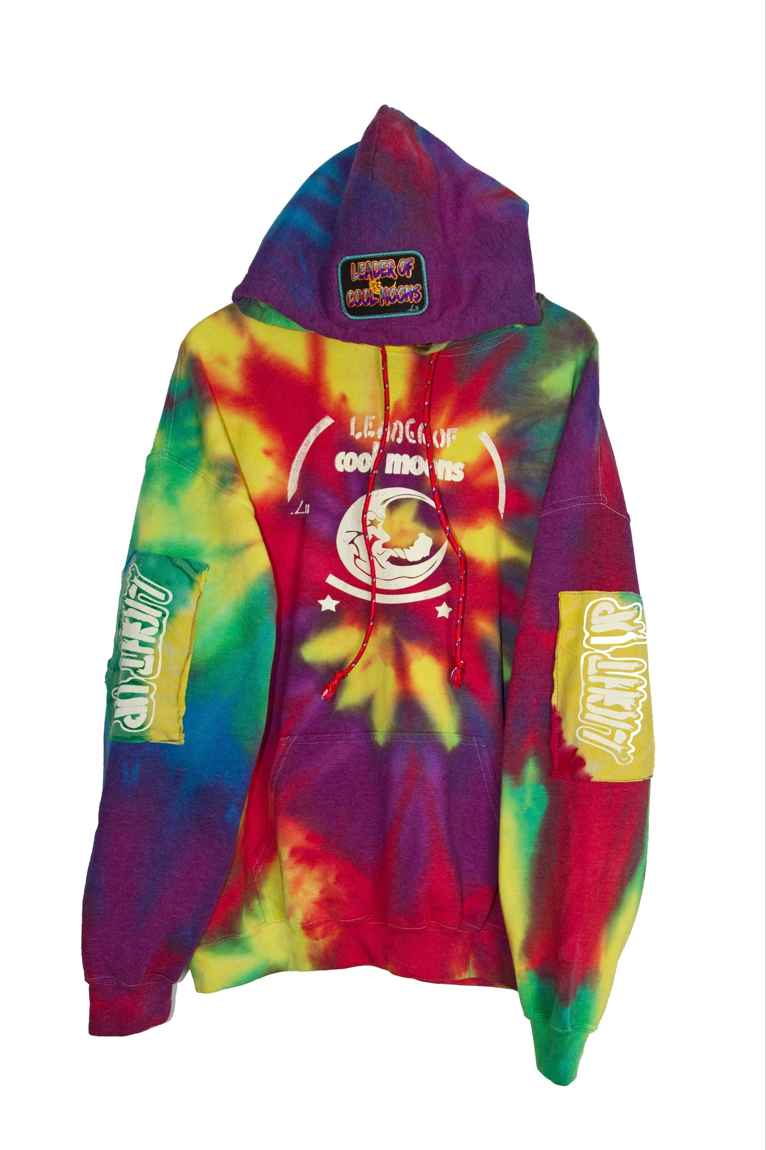 "Image of ""LIGHT UP"" rainbow tie-dye hoodie pt.3-2019"