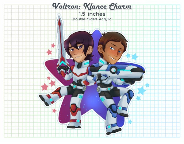 Image of Keith & Lance Acrylic Charm : Space Rangers