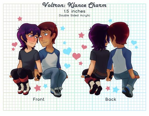 Image of Keith & Lance (Klance) Acrylic Charm : Hand Holding