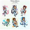 Image 1 of Voltron Paladins Acrylic Charms : Cat Hoodies