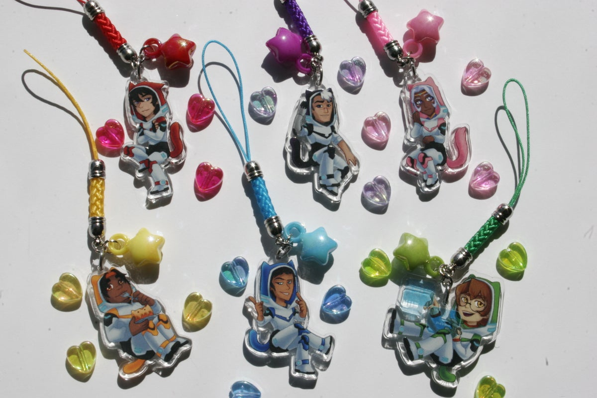 Image of Voltron Paladins Acrylic Charms : Cat Hoodies