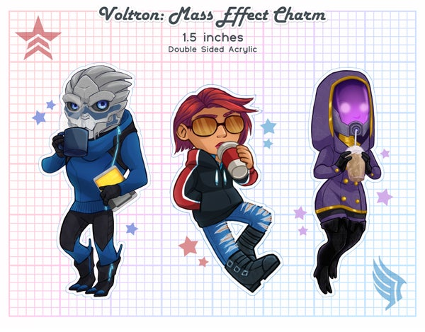 Image of Mass Effect Acrylic Charms : Coffee Crew