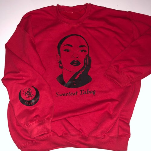 Image of Sweetest Taboo Silk Screen Crew Neck