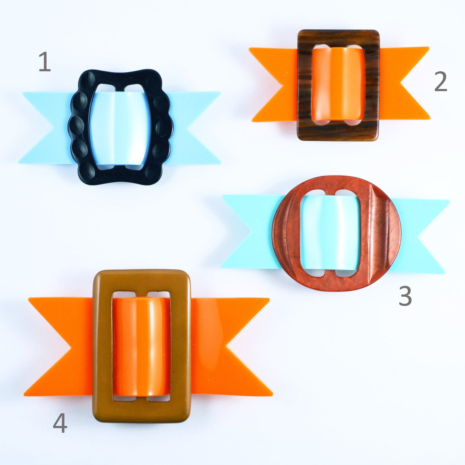 Image of Buckle Brooches 1 to 4
