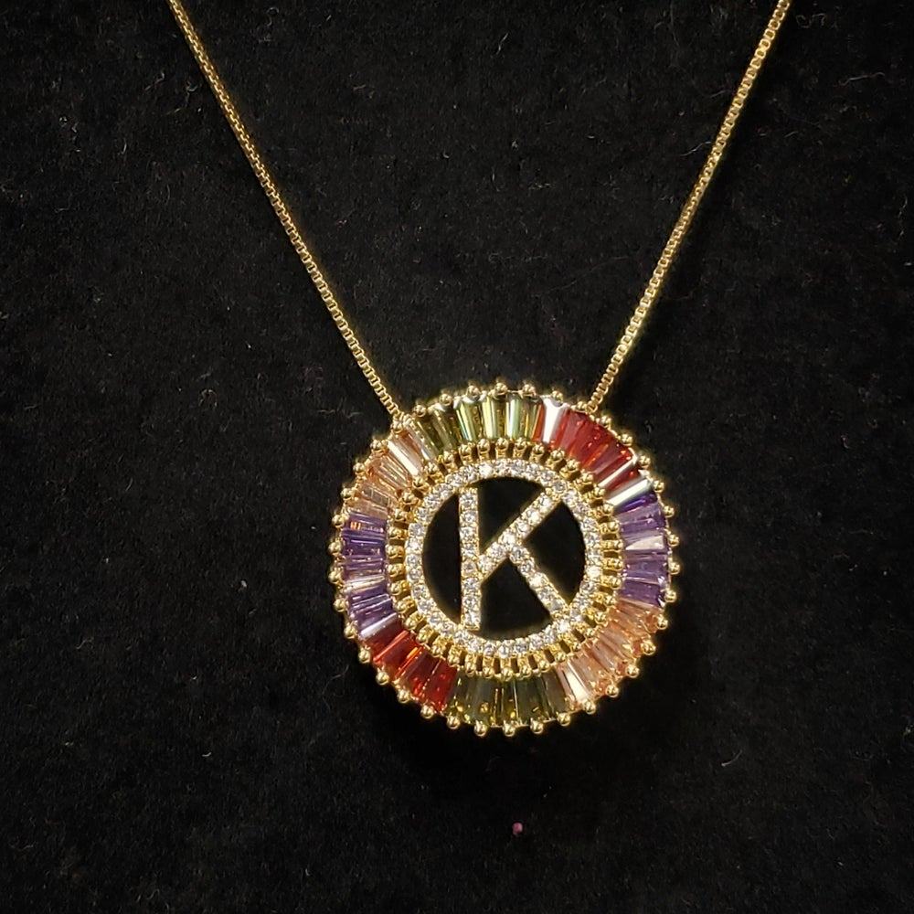 Image of Multicolored Regal Necklace A- Z