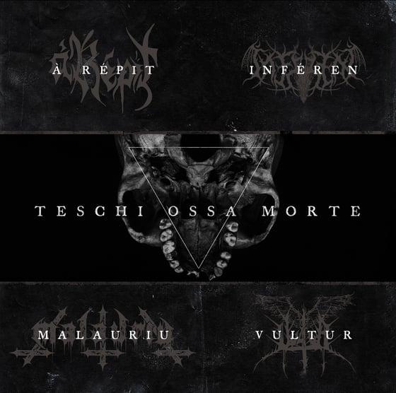 """Image of À RÉPIT / INFÉREN / MALAURIU / VULTUR """"Teschi Ossa Morte"""" LP"""