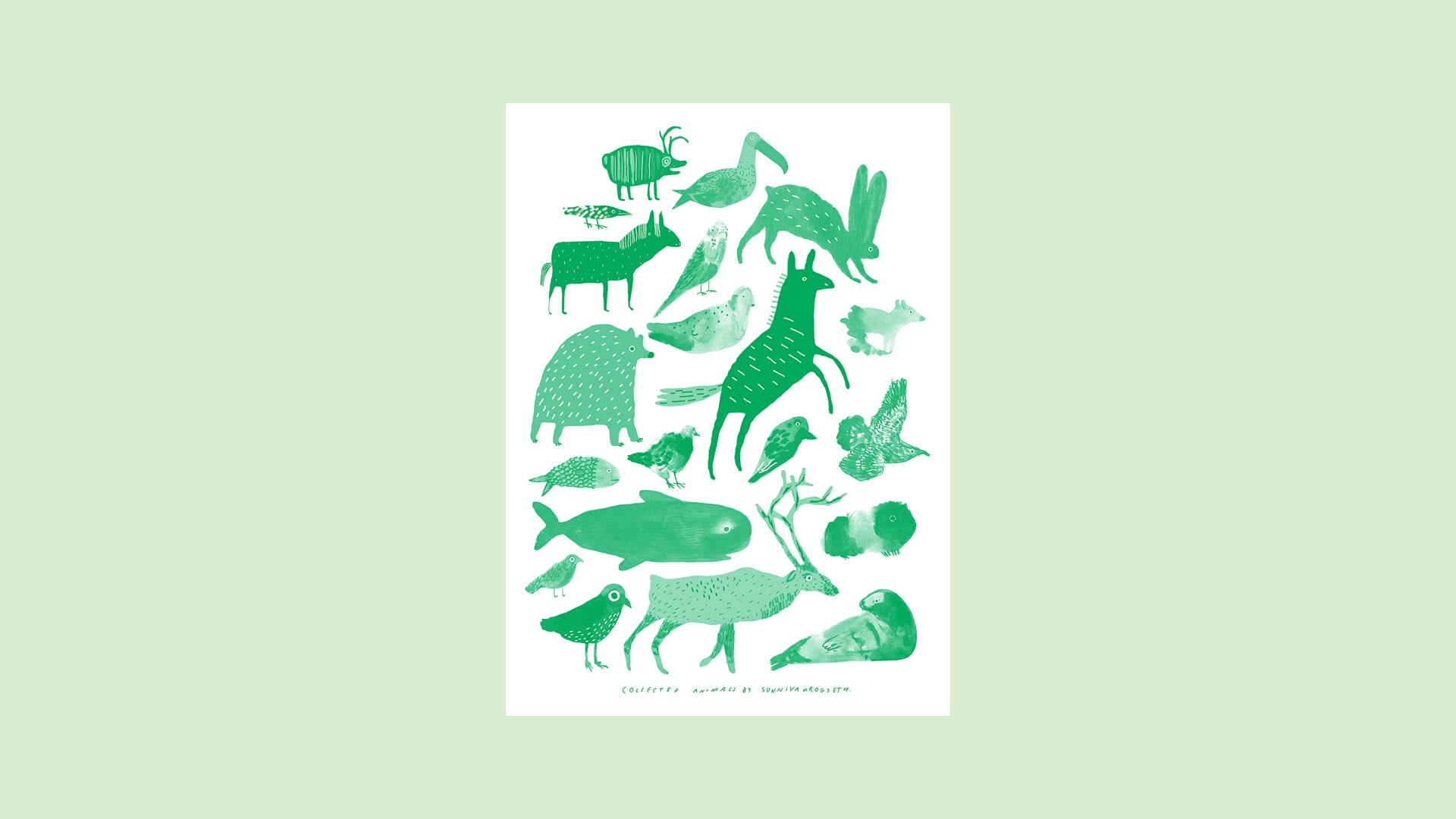 Image of Collected Animals 2019 Green