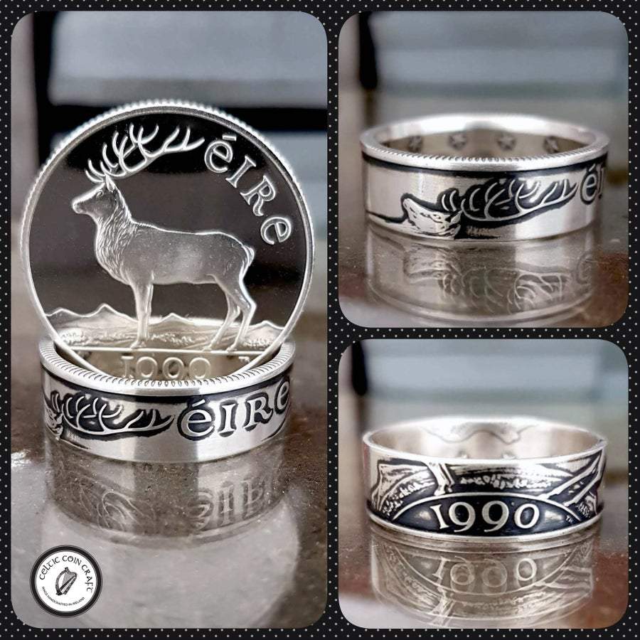Image of Irish Deer Coin Ring
