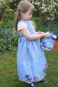 Image of Pinafore Dress with elephant border print