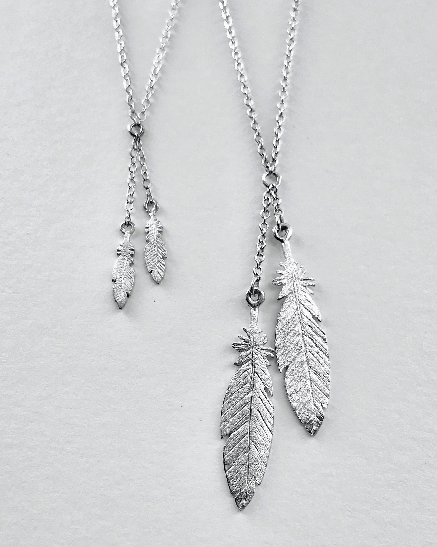 Image of Feather Lariat Necklace